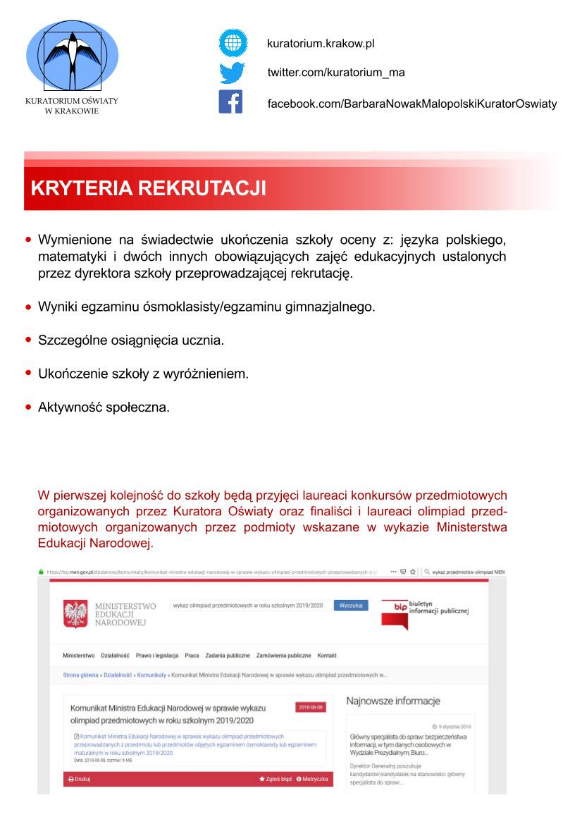 Kryteria rekrutacji