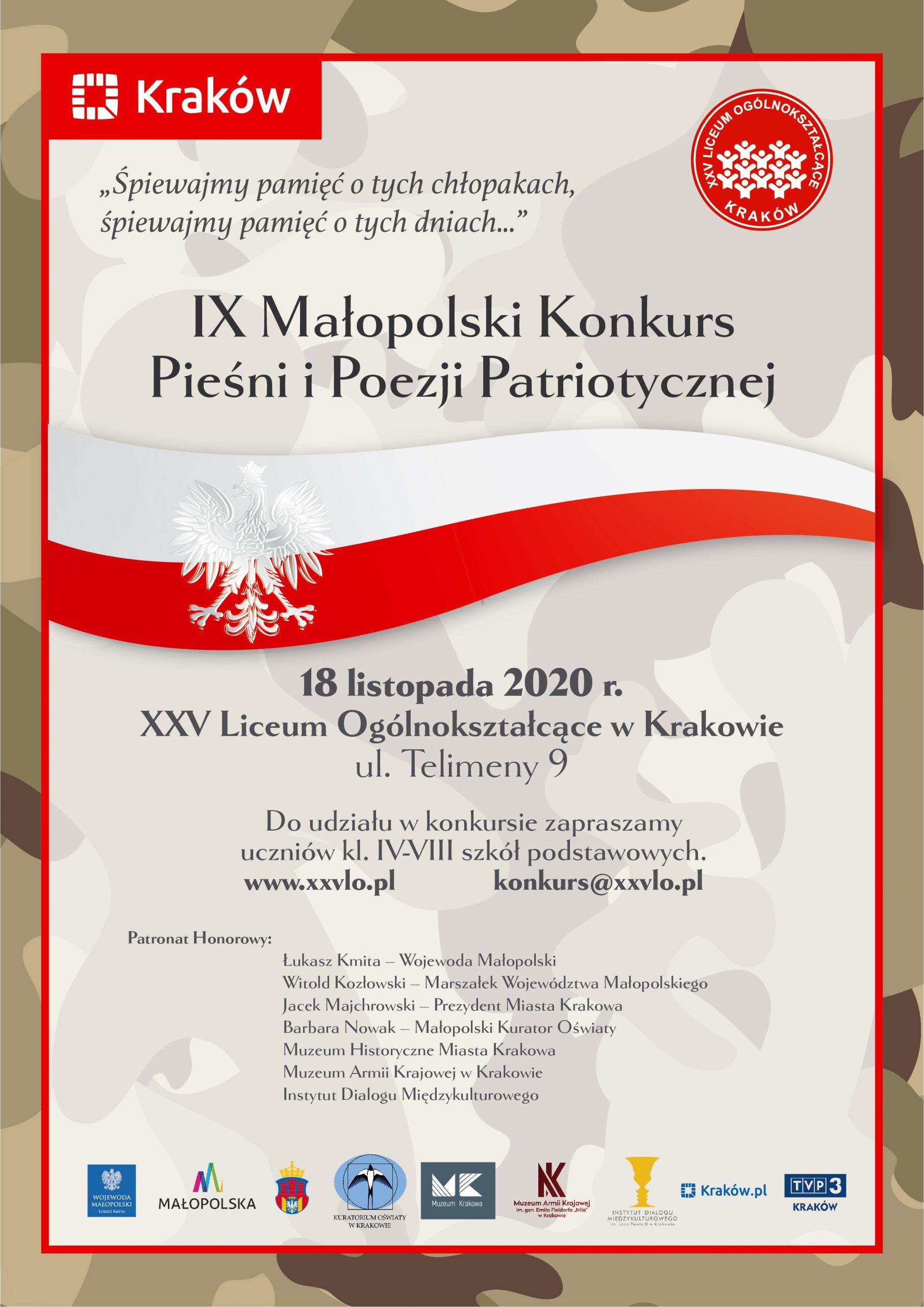 IX Małopolski Konkurs Pieśni i Poezji Patriotycznej