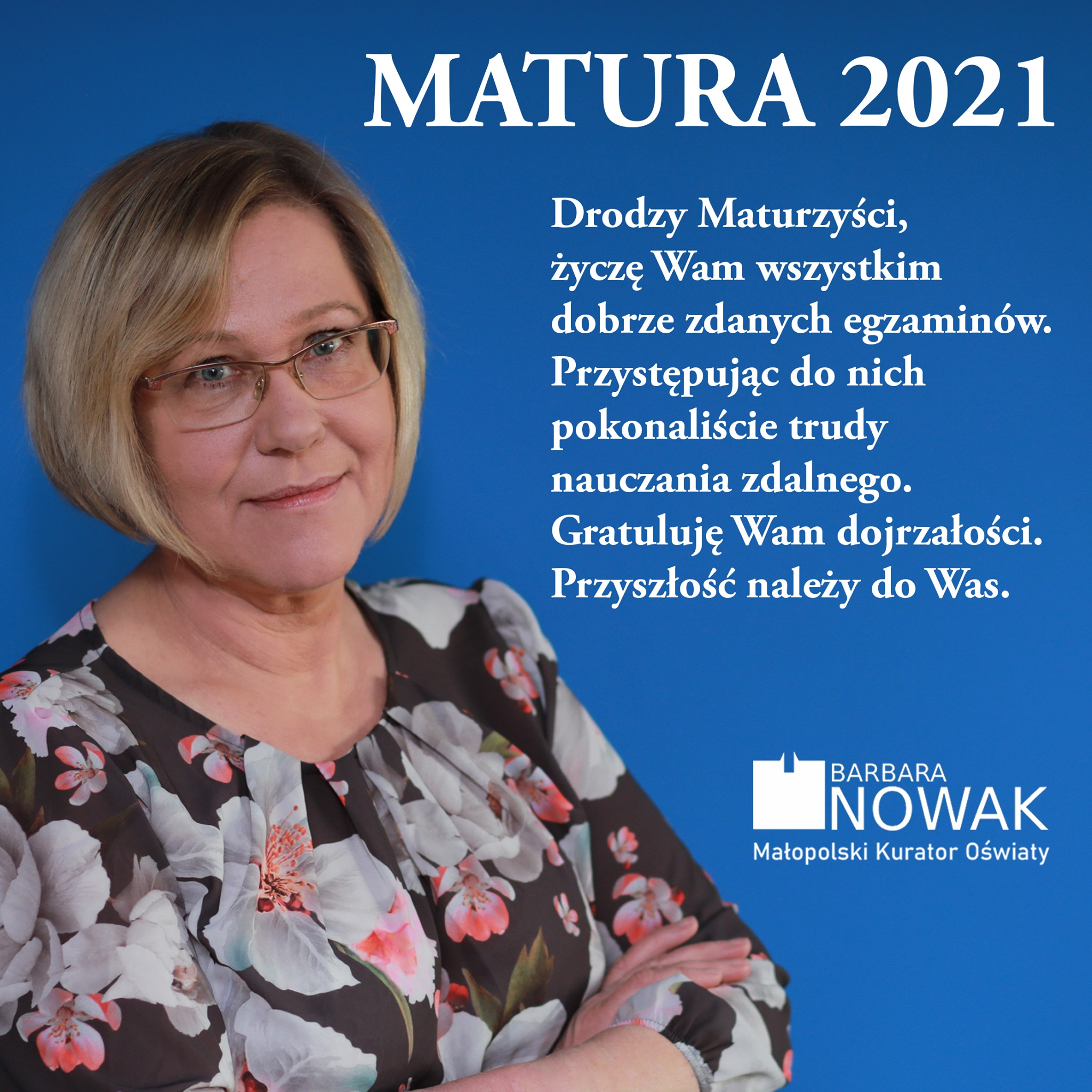 Życzenia Małopolskiego Kuratora Oświaty dla Maturzystów