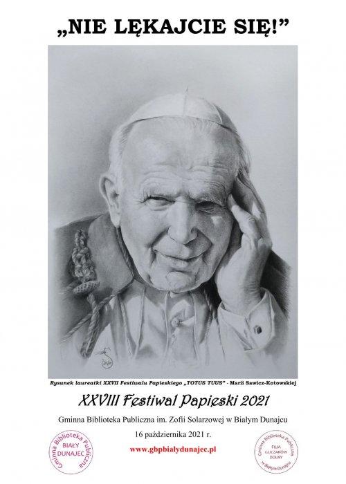 Plakat Festiwalu Papieskiego